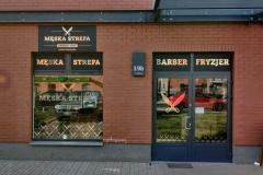 oklejanie witryn barber